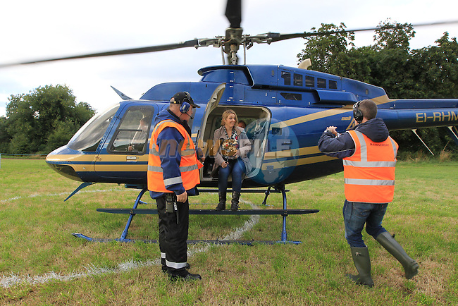 Rhonda int he helicopter during the concert at Slane<br /> Picture www.newsfile.ie