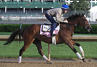 May 1, 2014: Fashion Plate gallops in preparation for the Kentucky Oaks at Churchill Downs in Louisville, KY. Zoe Metz/ESW/CSM