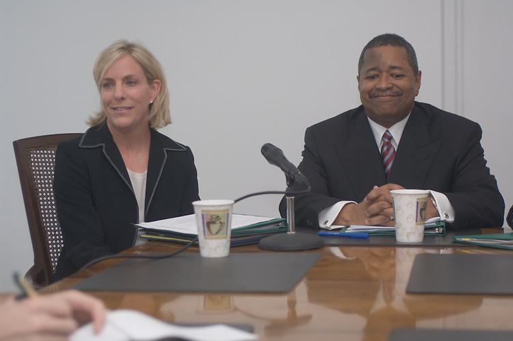 17059Press Conference for New Director of Government Releations Terri Geiger in Cutler Hall 8/10/05