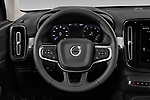 Car pictures of steering wheel view of a 2020 Volvo XC40 Momentum 5 Door SUV Steering Wheel