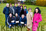 Gillian Sheehan Principal and norma O'Donoghue launching the Norma O'Donoghue designer showcase in aid of Kilcummin NS hall which will be held in the Great Southern Hotel on 19th April with front row l-r: Ger Sheehan, Russell Fleming, Tom Keane. Back row: Donal Barry, Catriona McGuire, Irene O'Donoghue, Jackie O'Mahony, Louise Finnegan and Geraldine Piggott