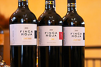 Bottles of Finca Roja Pinot Noir Malbec, Bodega Del Anelo Winery, also called Finca Roja, Anelo Region, Neuquen, Patagonia, Argentina, South America