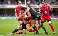 Toulouse Rugby's Maxime Mermoz in action during todays match<br /> <br /> Photographer Bob Bradford/CameraSport<br /> <br /> European Rugby Champions Cup - Bath Rugby v Toulouse - Saturday 13th October 2018 - The Recreation Ground - Bath<br /> <br /> World Copyright &copy; 2018 CameraSport. All rights reserved. 43 Linden Ave. Countesthorpe. Leicester. England. LE8 5PG - Tel: +44 (0) 116 277 4147 - admin@camerasport.com - www.camerasport.com