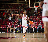 STANFORD, CA - January 26, 2019: Daejon Davis at Maples Pavilion. The Stanford Cardinal defeated the Colorado Buffaloes 75-62.