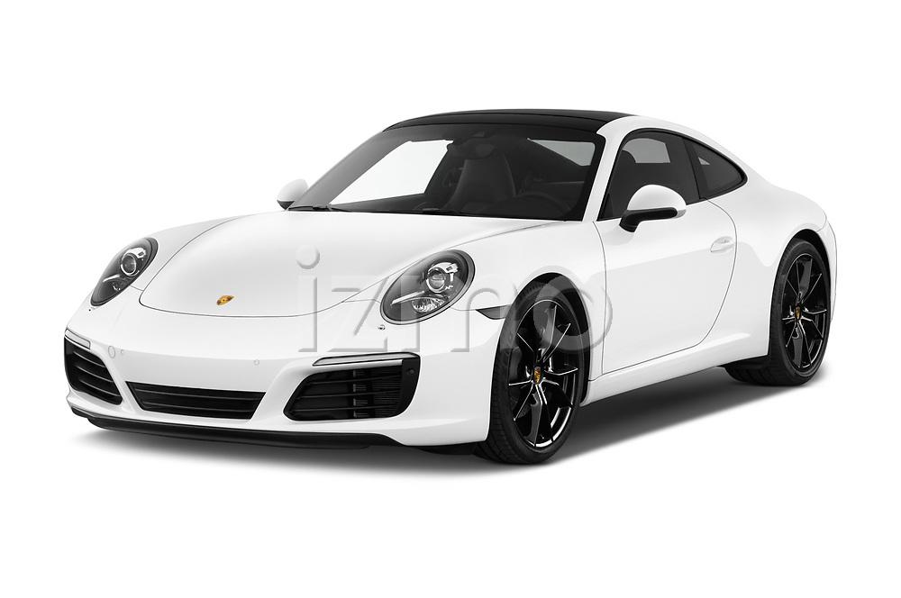 2017 Porsche 911 Carrera 2 Door Coupe angular front stock photos of front three quarter view