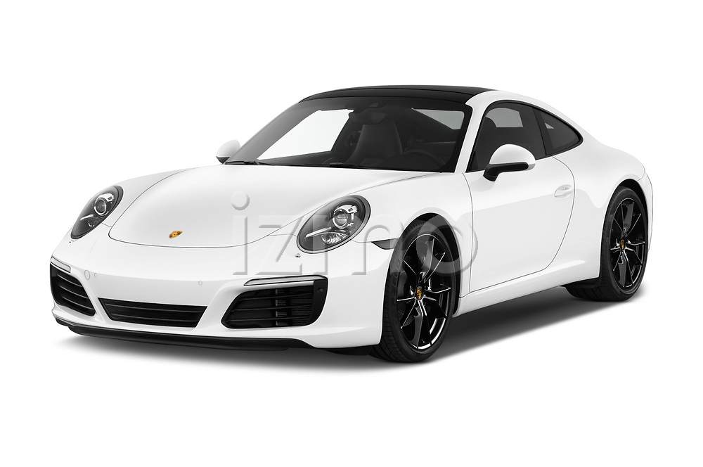 2018 Porsche 911 Carrera 2 Door Coupe angular front stock photos of front three quarter view