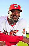 28 February 2010: Washington Nationals right fielder Elijah Dukes poses for his Spring Training photo at Space Coast Stadium in Viera, Florida. Mandatory Credit: Ed Wolfstein Photo