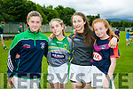 Enjoying the Na Gaeil GAA Club Summer camp on Friday were l-r   Kayleigh Costello, Emer Ni Shuilleabhain, Kayleigh Murphy and Alva Daly