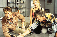 Total Recall (1990) <br /> Behind the scenes photo of Paul Verhoeven, Arnold Schwarzenegger &amp; Sharon Stone<br /> *Filmstill - Editorial Use Only*<br /> CAP/KFS<br /> Image supplied by Capital Pictures