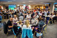 SWANSEA, WALES - SEPTEMBER 11: Swansea City Hospitality Suites ahead of the Premier League match between Swansea City and Chelsea at The Liberty Stadium on September 11, 2016 in Swansea, Wales.