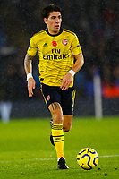 9th November 2019; King Power Stadium, Leicester, Midlands, England; English Premier League Football, Leicester City versus Arsenal; Hector Bellerin of Arsenal on the ball - Strictly Editorial Use Only. No use with unauthorized audio, video, data, fixture lists, club/league logos or 'live' services. Online in-match use limited to 120 images, no video emulation. No use in betting, games or single club/league/player publications