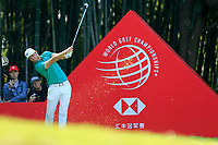 Lucas Bjerregaard (DEN) on the 17th tee during the 3rd round at the WGC HSBC Champions 2018, Sheshan Golf CLub, Shanghai, China. 27/10/2018.<br /> Picture Fran Caffrey / Golffile.ie<br /> <br /> All photo usage must carry mandatory copyright credit (&copy; Golffile | Fran Caffrey)