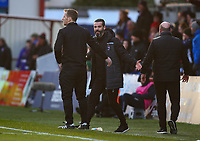 1st December 2019; Global Energy Stadium, Dingwall, Highland, Scotland; Scottish Premiership Football, Ross County versus Celtic; Ross County manager Stuart Kettlewell  speaks to 4th official Chris Fordyce after his side are disallowed a goal - Editorial Use