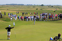 Jack Pierse (Portmarnock) on the 16th green during Round 4 of the East of Ireland Amateur Open Championship sponsored by City North Hotel at Co. Louth Golf club in Baltray on Monday 6th June 2016.<br /> Photo by: Golffile   Thos Caffrey