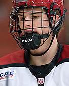 Petr Placek (Harvard - 27) - The Yale University Bulldogs defeated the Harvard University Crimson 5-1 on Saturday, November 3, 2012, at Bright Hockey Center in Boston, Massachusetts.