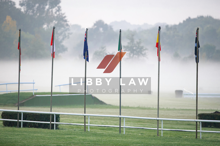 Mysterious morning at 2016 Mondial du Lion FEI World Breeding Eventing Championships for Young Horses. Friday 21 October. Copyright Photo: Libby Law Photography