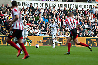 Saturday 19 October 2013 Pictured: Chico Flores takes the ball through the Sunderland Defence<br /> Re: Barclays Premier League Swansea City vSunderland at the Liberty Stadium, Swansea, Wales
