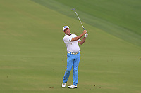 Scott Hend (AUS) on the 3rd fairway during Round 1 of the Omega Dubai Desert Classic, Emirates Golf Club, Dubai,  United Arab Emirates. 24/01/2019<br /> Picture: Golffile | Thos Caffrey<br /> <br /> <br /> All photo usage must carry mandatory copyright credit (&copy; Golffile | Thos Caffrey)