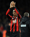 Junior Stanislas of Bournemouth applauds the fans at the end of the game<br /> - Barclays Premier League - Bournemouth vs Manchester United - Vitality Stadium - Bournemouth - England - 12th December 2015 - Pic Robin Parker/Sportimage