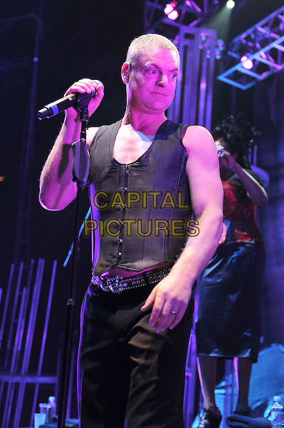 Andy Bell .Erasure performing live in concert at the Roundhouse, Camden, London, England..25th October 2011.on stage gig performance music half length black waistcoat  .CAP/MAR.© Martin Harris/Capital Pictures.