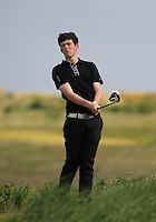 Ryan McKinstry (Cairndhu) on the 10th tee during the 2nd round of the East of Ireland Amateur Open Championship 2013 Co Louth Golf club 2/6/13<br /> Picture:  Thos Caffrey / www.golffile.ie