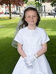 Meghan McCabe who received First Holy Communion in the Church of the Nativity Ardee. Photo:Colin Bell/pressphotos.ie