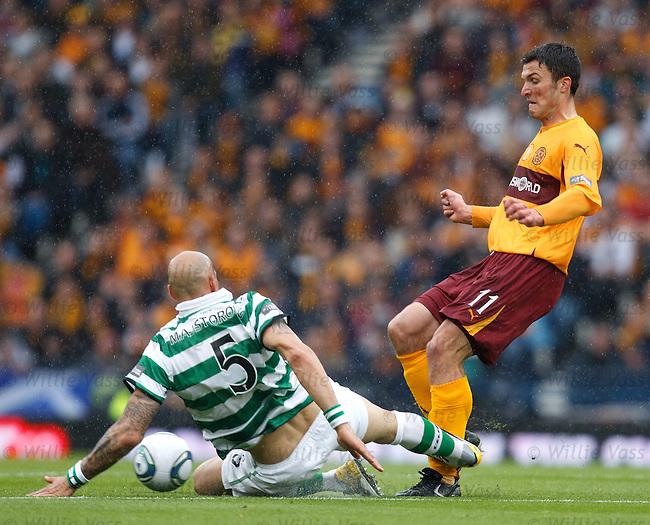 John Sutton tackled by Daniel Majstorovic