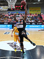 Basketball  1. Bundesliga  2016/2017  Hauptrunde  12. Spieltag  04.12.2016 Walter Tigers Tuebingen - ratiopharm Ulm Augustine Rubit (Ulm) geht zum Korb