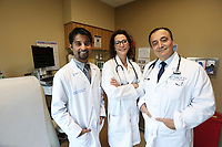 Jan. 25, 2018. Carlsbad. CA. USA | Right to left, Dr. Henry Showah, Dr Sharon Slowik, and Dr Gehaan D'Souza with Tri-City wound care. |Photos by Jamie Scott Lytle. Copyright.