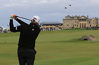 Matthew Southgate (ENG) on the 18th tee during Round 4 of the Alfred Dunhill Links Championship 2019 at St. Andrews Golf CLub, Fife, Scotland. 29/09/2019.<br /> Picture Thos Caffrey / Golffile.ie<br /> <br /> All photo usage must carry mandatory copyright credit (© Golffile | Thos Caffrey)