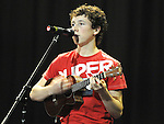 Ciaran Lee De La Salle college Dundalk performing in the School Stars auditions in the TLT Drogheda. Photo: Colin Bell/pressphotos.ie