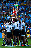 Fiji and USA Final at the 2019 HSBC World Sevens Series Hamilton,  at FMG Stadium in Hamilton, New Zealand on Sunday, 27 January 2018. Photo: Brett Phibbs / lintottphoto.co.nz