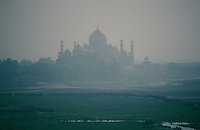The Taj Mahal from Agra Fort.