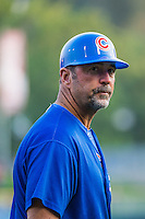 Iowa Cubs hitting coach Brian Harper (2) during the game against the Salt Lake Bees in Pacific Coast League action at Smith's Ballpark on August 20, 2015 in Salt Lake City, Utah. The Cubs defeated the Bees 13-2. (Stephen Smith/Four Seam Images)