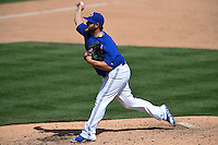 Toronto Blue Jays pitcher Cory Burns (44) during a Spring Training game against the Houston Astros on March 9, 2015 at Florida Auto Exchange Stadium in Dunedin, Florida.  Houston defeated Toronto 1-0.  (Mike Janes/Four Seam Images)