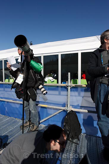 Trent Nelson     The Salt Lake Tribune.360 degree from photo position, Super-G, at the XXI Olympic Winter Games in Whistler, Friday, February 19, 2010.