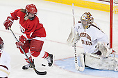 Jessica Campbell (Cornell - 8), Corinne Boyles (BC - 29) - The Boston College Eagles defeated the visiting Cornell University Big Red 4-3 (OT) on Sunday, January 11, 2012, at Kelley Rink in Conte Forum in Chestnut Hill, Massachusetts.