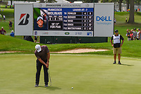 Francesco Molinari (ITA) watches his putt on 3 during 1st round of the World Golf Championships - Bridgestone Invitational, at the Firestone Country Club, Akron, Ohio. 8/2/2018.<br /> Picture: Golffile | Ken Murray<br /> <br /> <br /> All photo usage must carry mandatory copyright credit (&copy; Golffile | Ken Murray)