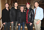 Todd Fournier, Brian Brigham, Frankie Valli, Brandon Brigham and Landon Fournier attending the reception for Frankie Valli and the Four Seasons  50th Anniversary Celebration & Broadway debut in 'The One. The Only. The Original.' at the Broadway Theatre on 10/19/2012 in New York City.