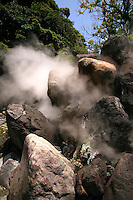 "Kamado Jigoku or the  ""cooking pot hell"" features several boiling ponds and a fierce or is that kitsch demon statue as cook."
