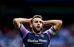 Antonio Jesus Regal Anguilo of Real Valladolid reacts during the La Liga 2018-19 match between Real Madrid and Real Valladolid at Estadio Santiago Bernabeu on November 03 2018 in Madrid, Spain. Photo by Diego Souto / Power Sport Images