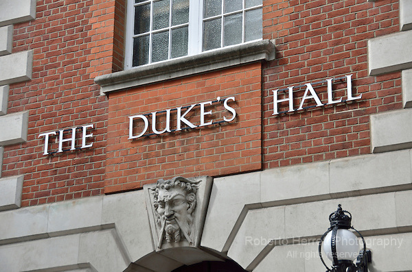 The Duke's Hall, Royal Academy of Music in Euston Road, London, UK.