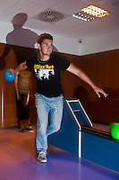 01 June 2010: Quentin Becquey of Rouen playing bowling the day before the start of the 2010 Baseball European Cup in Brno, Czech Republic.