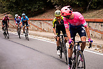 The final climb up to Basilica Superga with Michael Woods (CAN) EF Education First and Adam Yates (GBR) Mitchelton-Scott during the world's oldest classic the 100th edition of Milano-Torino running 179km from Magenta to the Basilica at Superga in Turin, Italy. 9th Octobre 2019. <br /> Picture: Marco Alpozzi/LaPresse | Cyclefile<br /> <br /> All photos usage must carry mandatory copyright credit (© Cyclefile | LaPresse/Marco Alpozzi)