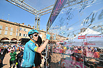 Miguel Angel Lopez Moreno (COL) Astana Pro Team at sign on before Stage 11 of the 2019 Giro d'Italia, running 221km from Carpi to Novi Ligure, Italy. 22nd May 2019<br /> Picture: Massimo Paolone/LaPresse | Cyclefile<br /> <br /> All photos usage must carry mandatory copyright credit (© Cyclefile | Massimo Paolone/LaPresse)