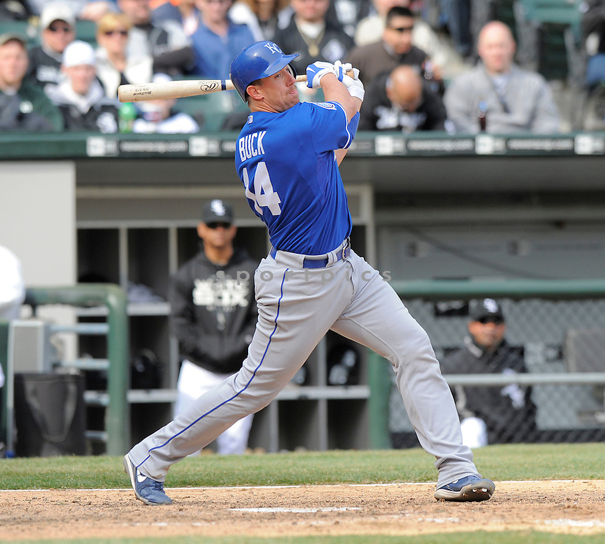 JOHN BUCK, of the Kansas CIty Royals, in action  during the Royals  game against the Chicago White Sox  on April 8, 2009 in Chicago, IL.  The Royals  beat  the White Sox  2-0 in Chicago,