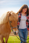20160610 Icelandic horse and girl