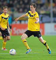 Fussball, 2. Bundesliga, Saison 2011/12, SG Dynamo Dresden - Eintracht Frankfurt, Montag (26.09.11), gluecksgas Stadion, Dresden. Dresdens David Solga am Ball.