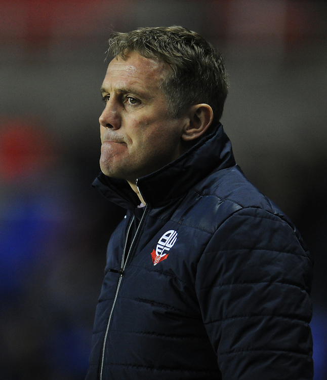 Bolton Wanderers manager Phil Parkinson <br /> <br /> Photographer Kevin Barnes/CameraSport<br /> <br /> The EFL Sky Bet Championship - Reading v Bolton Wanderers - Tuesday 6th March 2018 - Madejski Stadium - Reading<br /> <br /> World Copyright &copy; 2018 CameraSport. All rights reserved. 43 Linden Ave. Countesthorpe. Leicester. England. LE8 5PG - Tel: +44 (0) 116 277 4147 - admin@camerasport.com - www.camerasport.com
