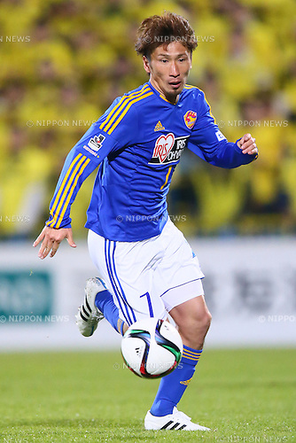 Hiroaki Okuno (Vegalta),<br /> MARCH 13, 2015 - Football / Soccer : <br /> 2015 J1 League 1st stage match between<br /> Kashiwa Reysol 1-1 Vegalta Sendai<br /> at Hitachi Kashiwa Stadium in Chiba, Japan.<br /> (Photo by Shingo Ito/AFLO SPORT)